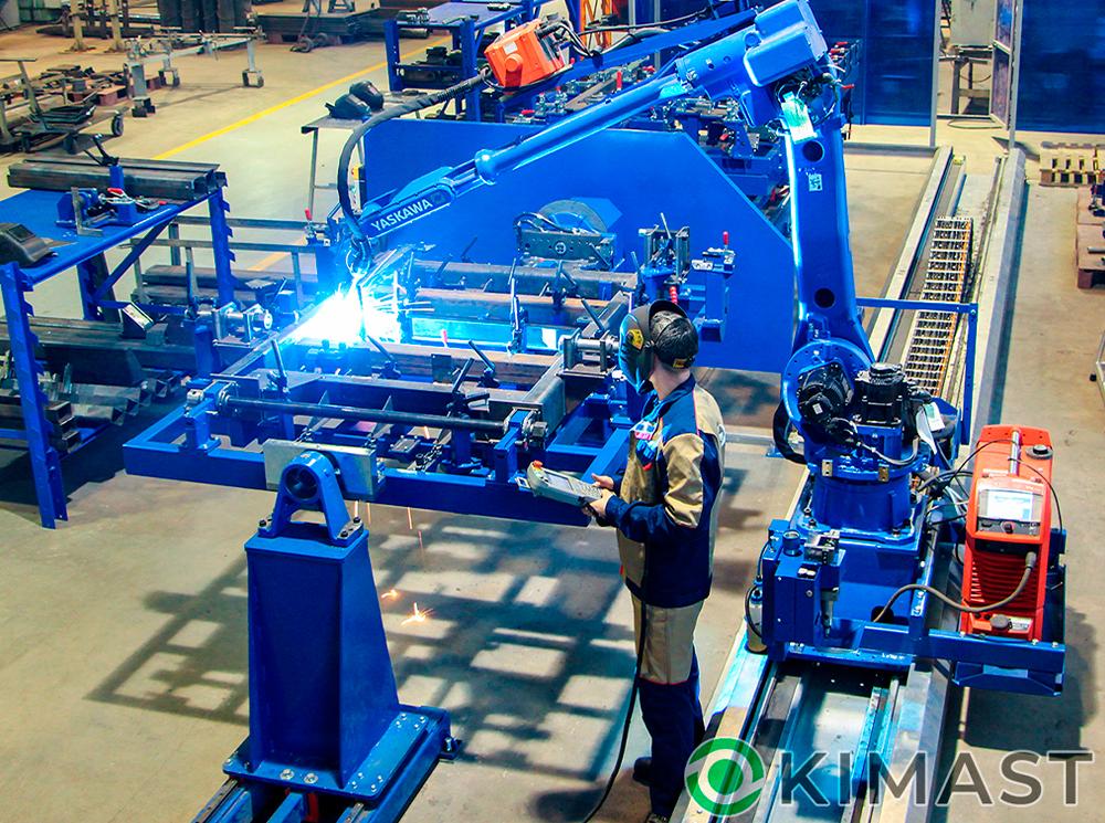 Сдан в эксплуатацию роботизированный комплекс для сварки поворотных рам прицепов