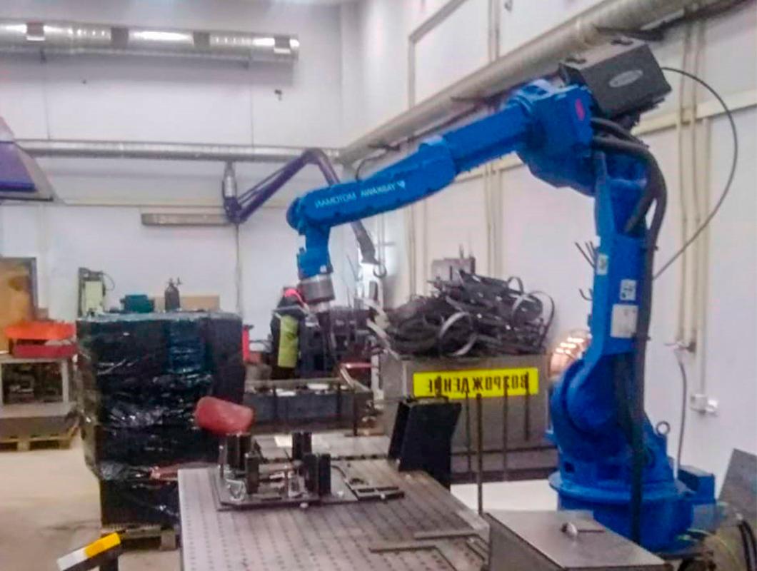 Проведены пуско-наладочные работы роботизированного комплекса для автоматической сварки мангалов