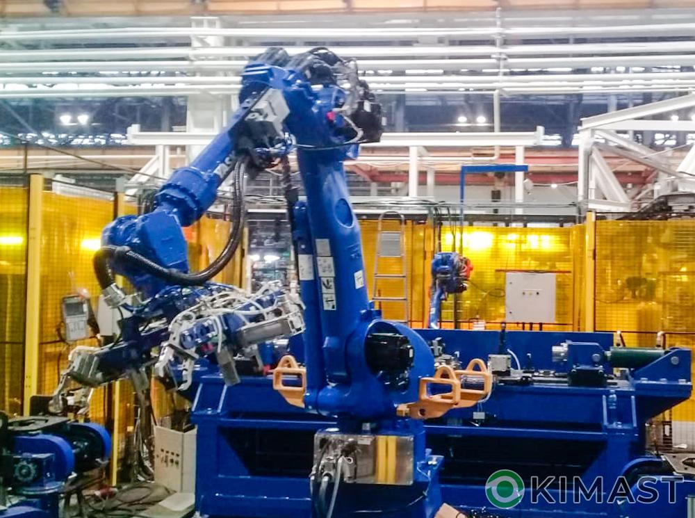 Разработаны конвейеры для роботизированной линии на базе роботов «Yaskawa» для сварки изделий автомобилей «Газель NEXT»