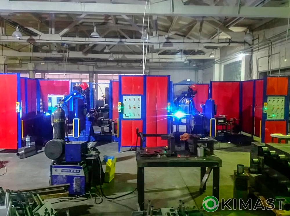 Cданы два роботизированных сварочных комплекса на базе «Yaskawa» для сварки твердотопливных котлов