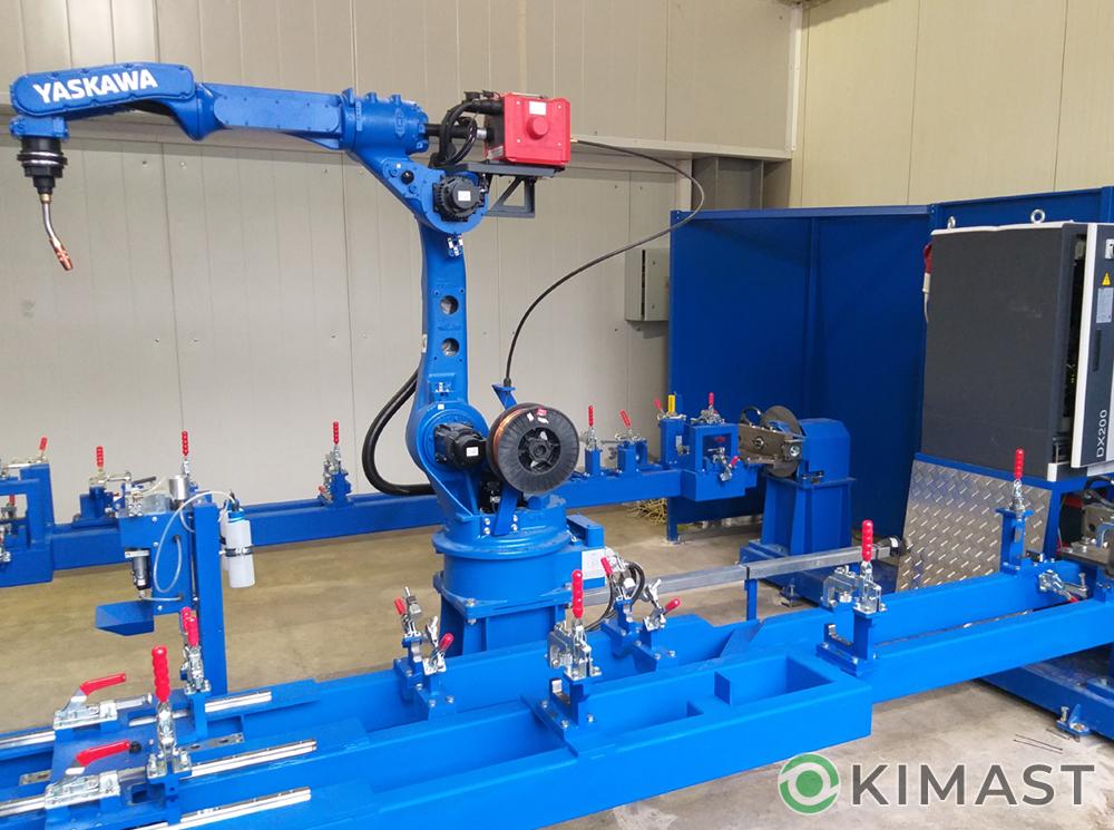 Произведен запуск роботизированного сварочного комплекса