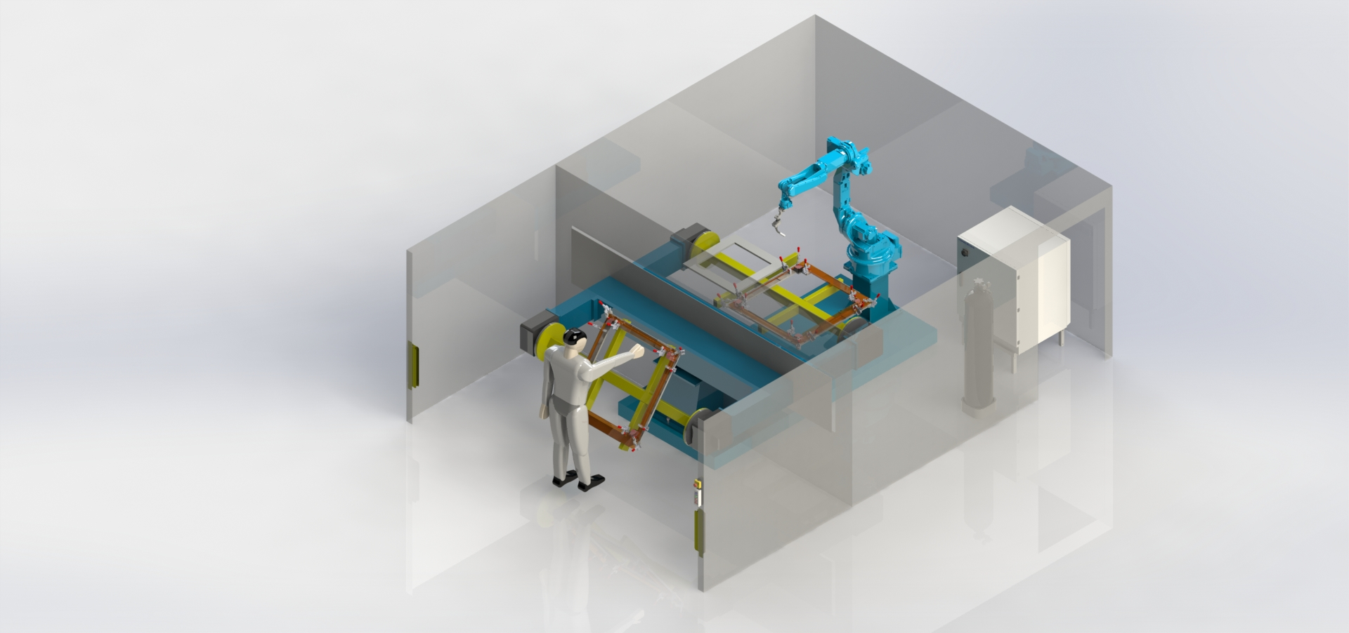 Роботизированный сварочный комплекс 1R3OP