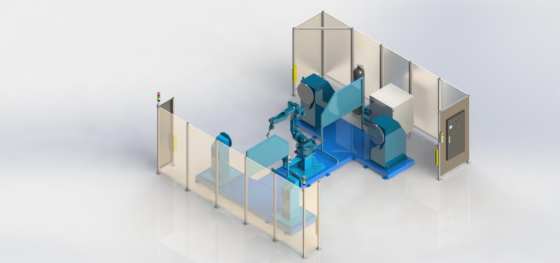 Роботизированный сварочный комплекс 1R2P